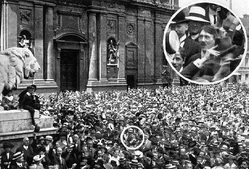 Classic pic of Hitler spotted in a pre-Nazi Munich rally. We are including a Munich/Nazi history walk in your package.