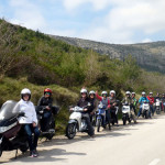 Born to be WILD! Morningstar Hell's Angels tear up the island of Hvar on our bad scooters.