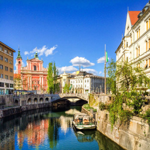 Ljubljana: charming river front, canals, mountain-top castle.... cannot wait to see this place!