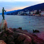 Opatija harbor. Our hotel was right on the sea.