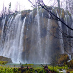 One of many water falls at Plitvice Lakes Park.