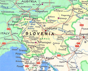 Where is Slovenia?  This will help you put a handle on where your next adventure is!
