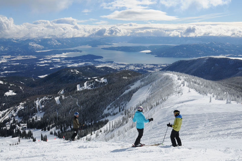 Schweitzer, above Idaho's Lake Ponderay at Sand Point, has the views of Tahoe and the powder of Utah... without the crowds. This place ROCKS and we are going back!