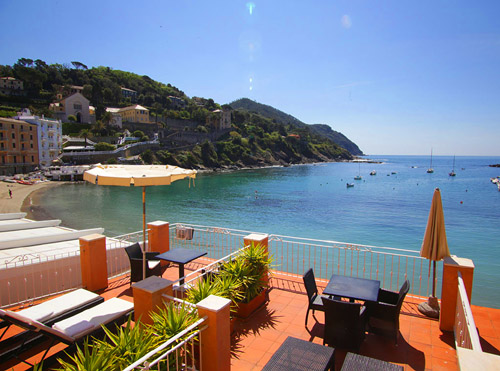Your Italian Riviera home away from home: the #1 rated Miramare hotel is literally right on the sea in the charming village of Sestri Levante, which is in easy striking distance from the Cinque Terre, Portofino, and Genoa.,