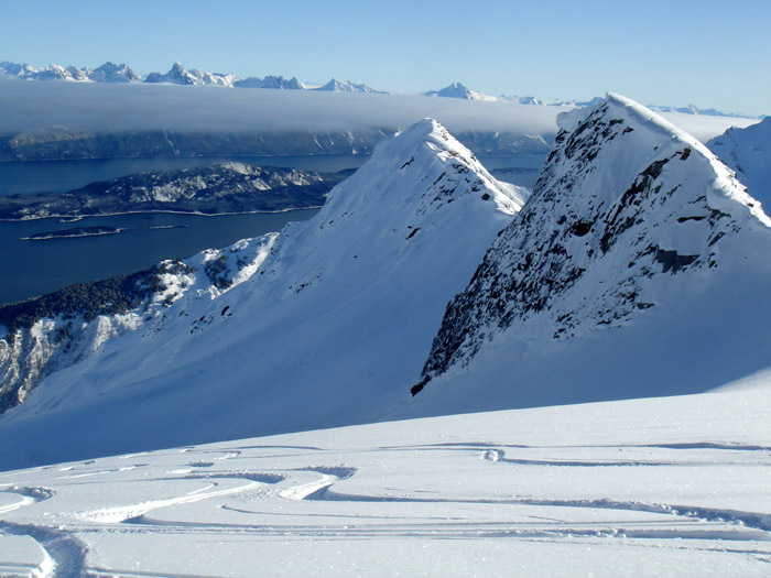 Flying and skiing about the fjord of Haines, Alaska is other-worldly. It will blow you away on every level.