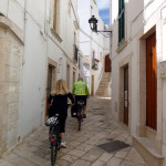 Winding our way thru the ancient narrow streets of Locorotondo.
