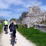 OUr day ride to hilltop Locorotondo is full of trullis, vineyards, olive groves, and natural beauty. Along a smooth path, anyone can do this ride.