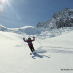 On the heli day, starting in Italy, skiing to the Matterhorn in Switzerland, and back home to Italy.. all on skis. Epic!