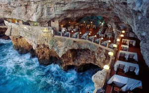 Pulignano cave restaurant.  Not too many places like this!