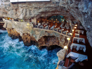 One of the most spectacular settings for a restaurant, the Cave at Pulignano is a marvel.