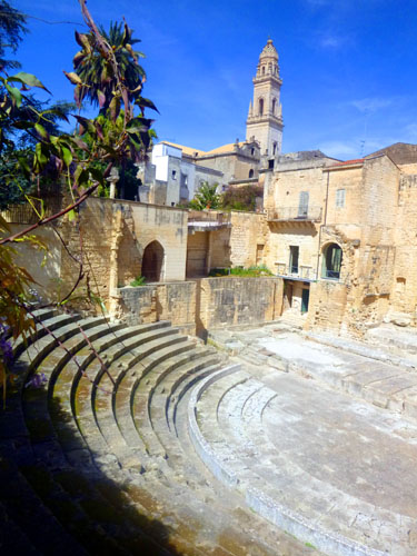 Roman Empire theater remains in heart of Lecce.