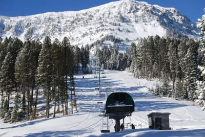 Eight lifts service 2,000 acres of terrain and 2,700 vertical feet of skiing.