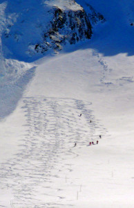 Those tiny dots are some of our skiers. The terrain is huge in Les Arcs. The powder can be stellar.