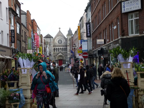 Graffton St. is minutes from our hotel and is THE shopping area of Dublin.