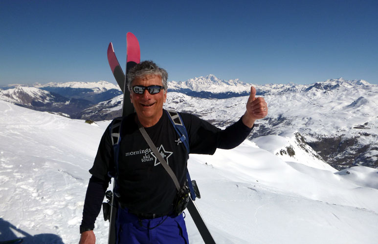 Skiman in Trois Vallees France last March, Mt. Blanc in backgound, big smile says it all. Let's keep movin together,,, France and Italy 2020. Let's rock it!