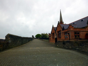 This is a portion of the wall you will walk upon on your guided walking tour of Derry.