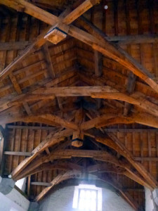 The restored ceiling is made of Irish Oak and weighs 40 tons.
