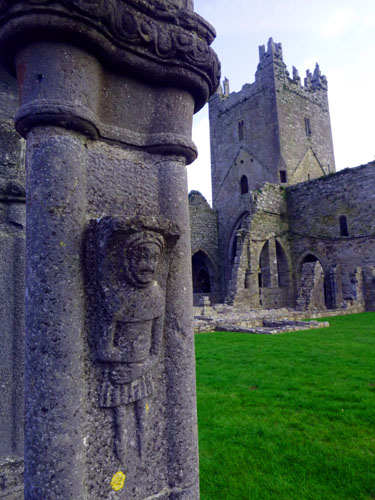 Jerpoint Abbey has some of the best-preserved rock carvings in Ireland. We will visit it on our way to Killarney.