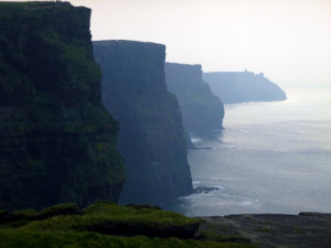 Cliffs of Moher.. second highest sea cliffs in Europe. You will be right on top ot them.