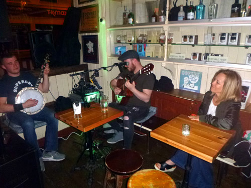 Killarney is full of wonderous pubs offering Irish music at its best. Deb is enthralled with our favorite band of the entire trip. Killarney at night: so fun!